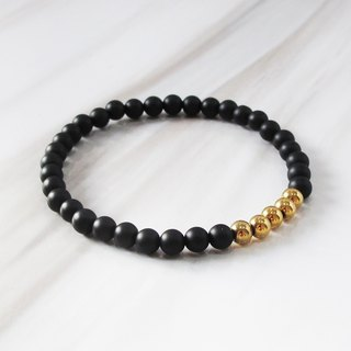 Black gold bead bracelet