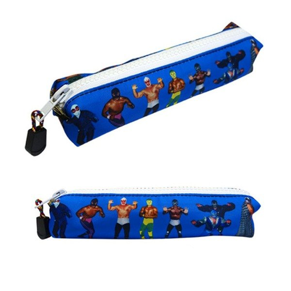 Fighting style pencil bag (blue)