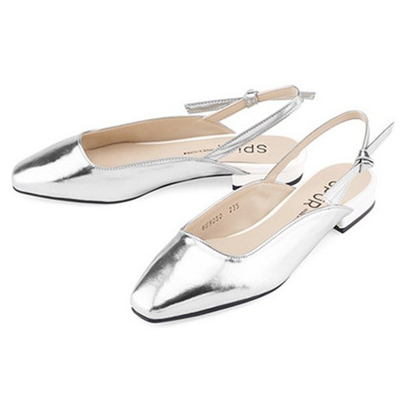 PRE-ORDER – SPUR Tie up slingback MS9050 SILVER