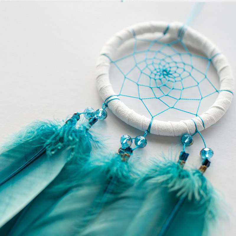 Dream Catcher Material Pack 8cm - Simple Hole Blue Green - Hand made diy gift