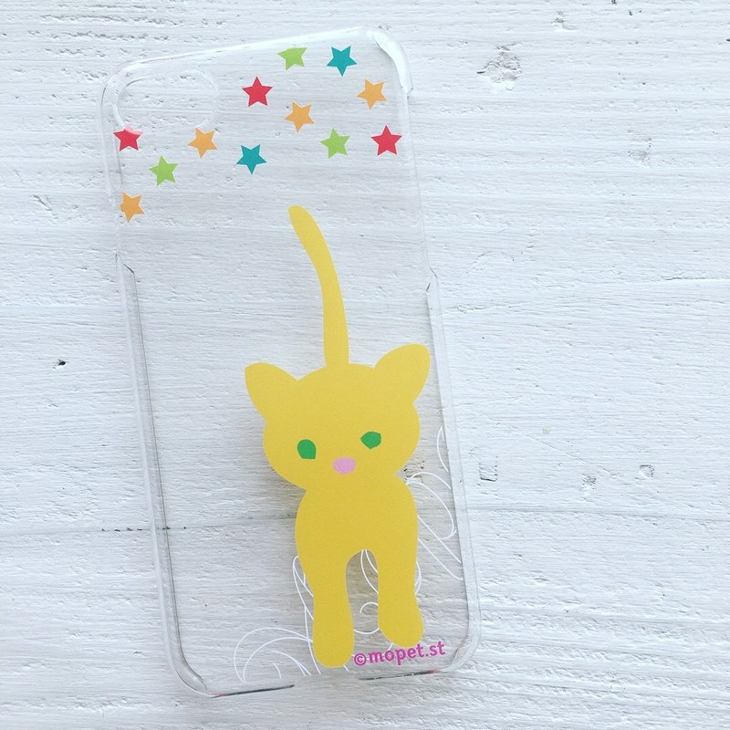 iPhonecase/yellow cat stars/original illustration