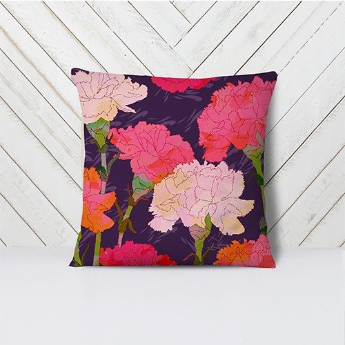 [Atrial flower] Purple noble handmade pillow AH1-HOTF4