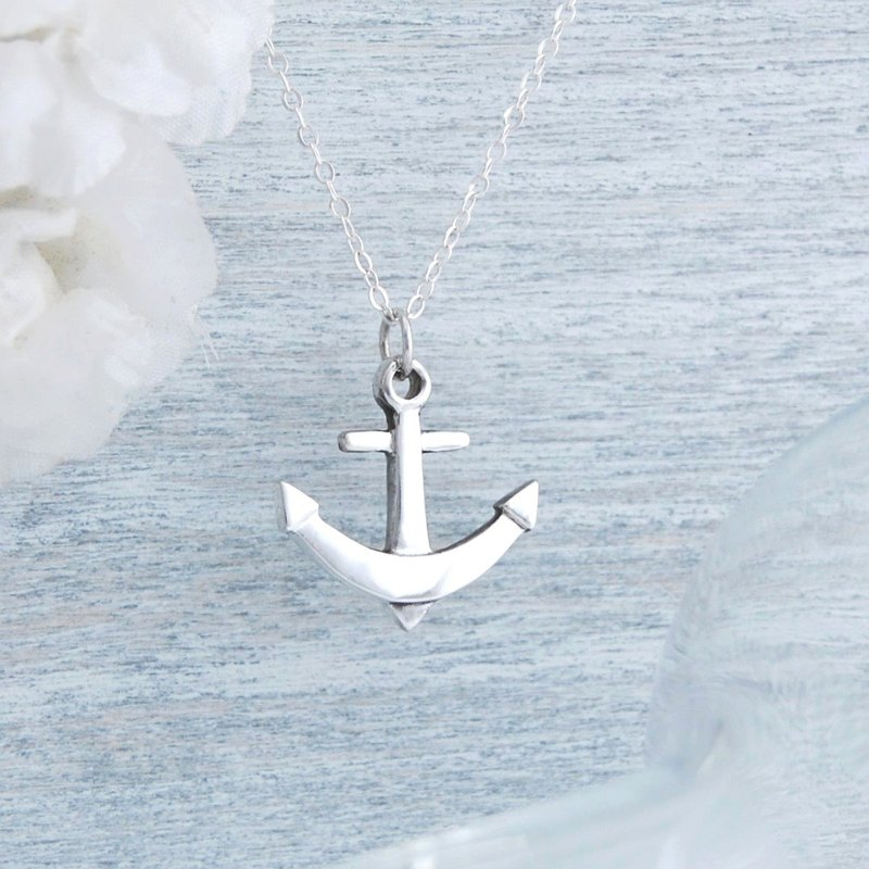 Anchor - silver necklace