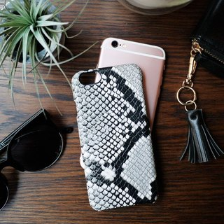 AOORTI :: Apple iPhone 6s - 4.7 吋 Handcrafted Leather Coat Case / Mobile Phone Case - Python Pattern / Mineral Ash