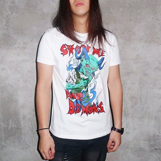 SHOW ME YOUR DEMONS MONSTER TEE T-SHIRT (White)