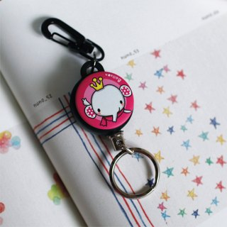 """Balloon"" retractable key chain ring bulk animal series - like Crown"