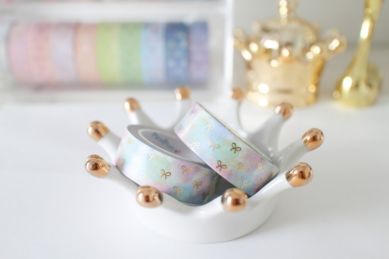 Gold foil tape - Cotton Candy bronzing small bow