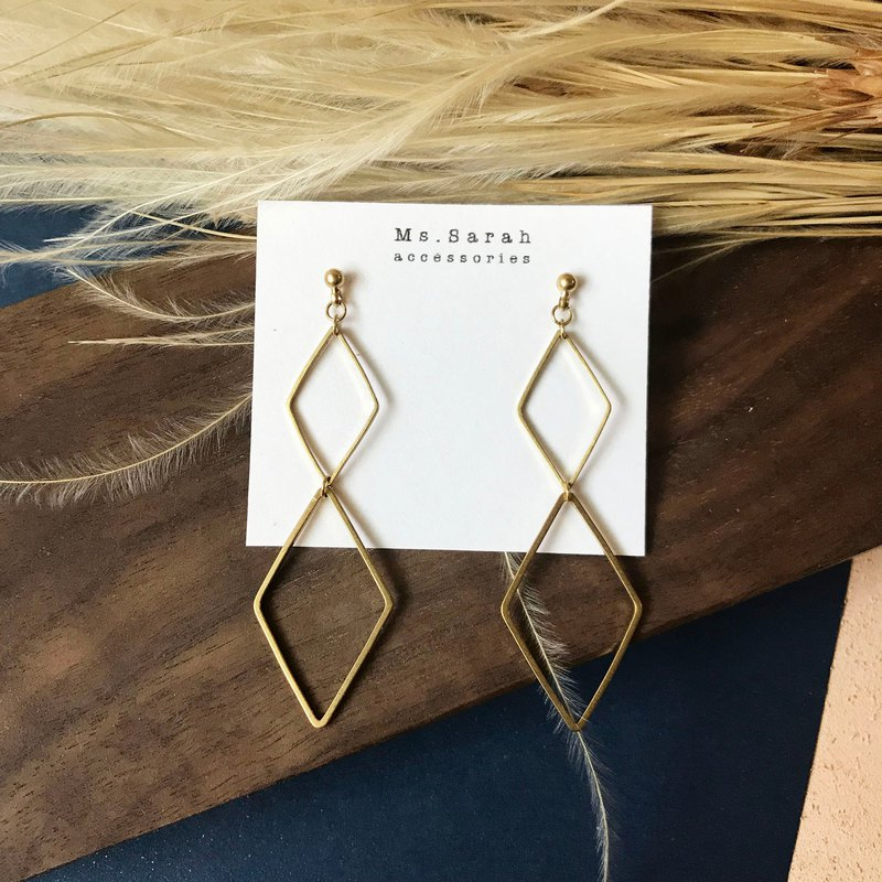 Brass earrings _ party (can be changed)