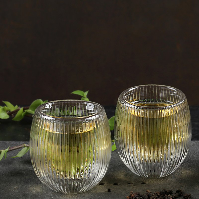 Silver Lining Double Wall Glass Cup(100ml) -2 pcs