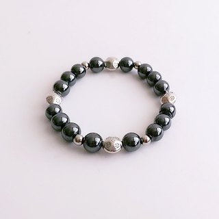 [Gemstone] Small magnetic field Magnetite silver • Bracelet