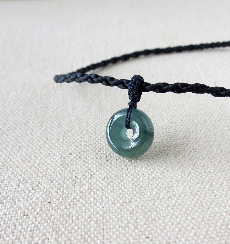Zodiac Year [Ping An‧ Ruyi] Ice Blue Water Jade Silk Wax Necklace ST19 [Four Units] Lucky