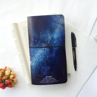 Custom 桠 crystal surface notebook notebook (can print) (Figure Style: Inspira Stardust Sapphire)