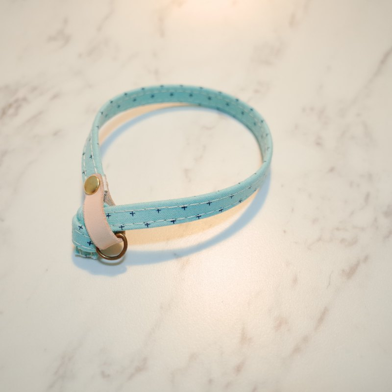 Cat collar Japanese cotton Tiffany has extra points Tiffany color with bells can add tag