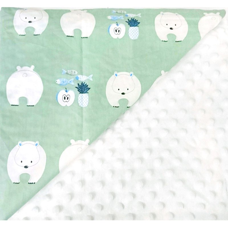 Minky multi-function point particle carrying blanket baby blanket cold air blanket is beige - polar bear