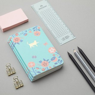 Flower and Cat Emblem Pocket Notebook