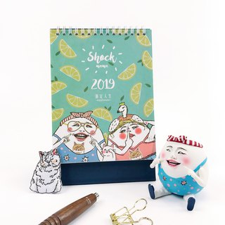 Eggs set life 2019 desk calendar