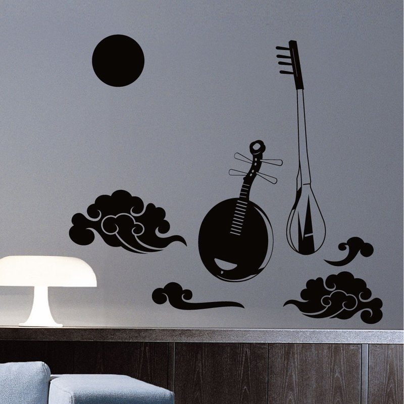 """Smart Design"" Creative Seamless wall stickers ◆ yueqin old melodies 8 color options"