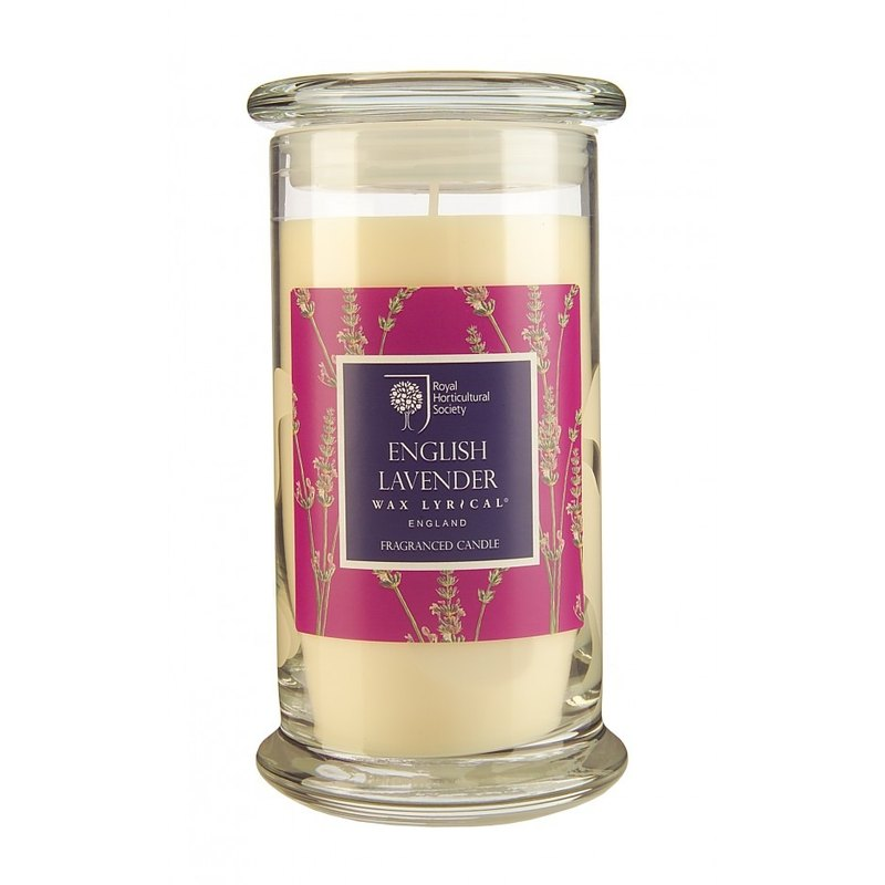 British Candle RHS FG British Lavender Glass Candle 120hr