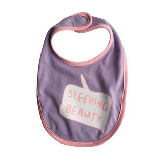 CLARECHEN baby sound bib _sleeping beauty version _ romantic purple powder