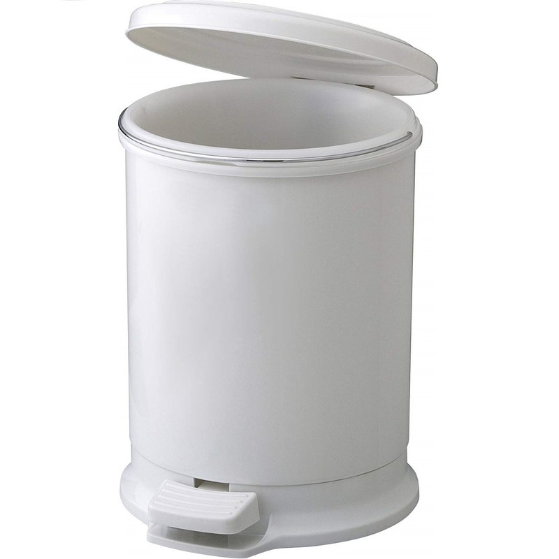 Japanese H&H cylinder shape treading trash can 10L with inner barrel