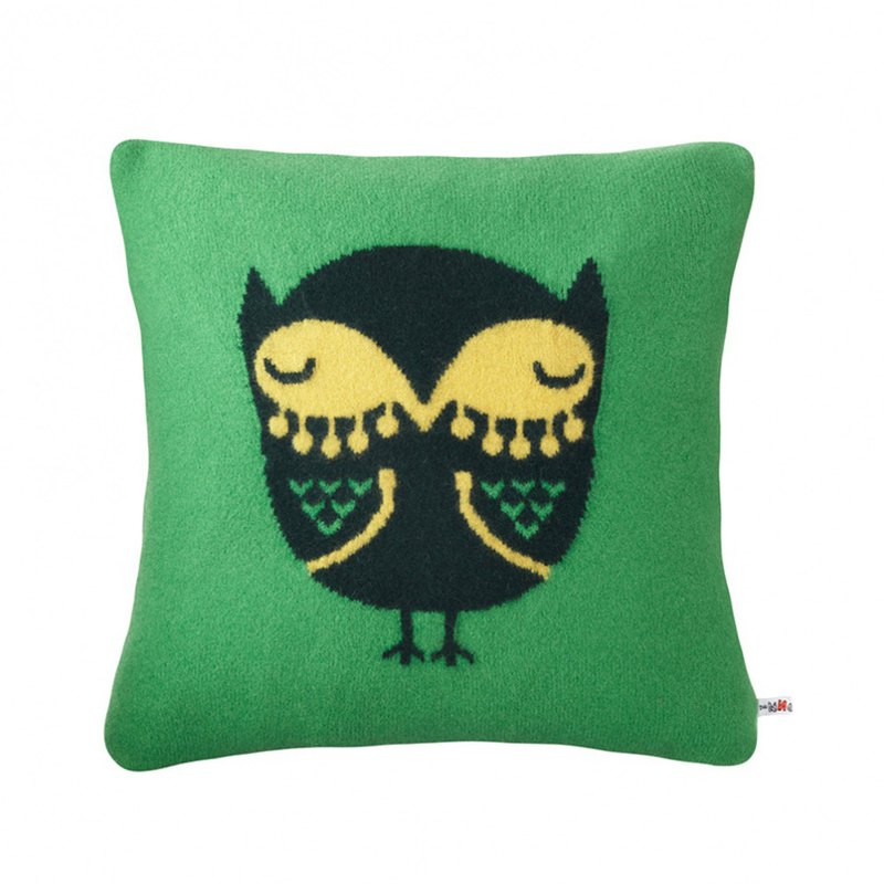 Owl Pure Wool Pillow | Donna Wilson Green