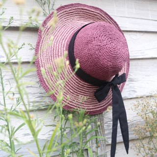 Hand-lady-like double-sided hat - hand weaving - travel / light travel / birthday gift / leap secret