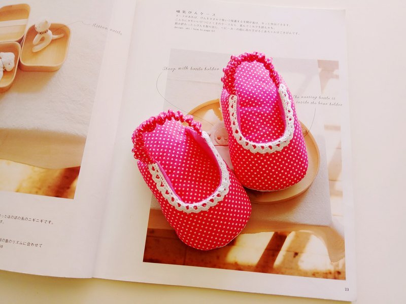 Pink water jade cotton lace beauty gift baby sandals baby shoes 13/14