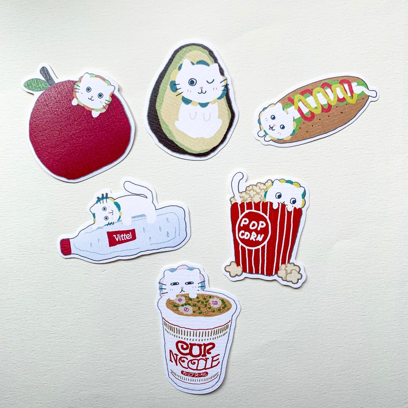 Stickers | Cat and foods