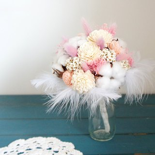Handmade dried flowers / not withered wedding wedding floral series ~ Marshmallow sweet romantic hand tied bridal bouquet / bouquet / wedding photo / pink wedding / hand tied bouquet ~
