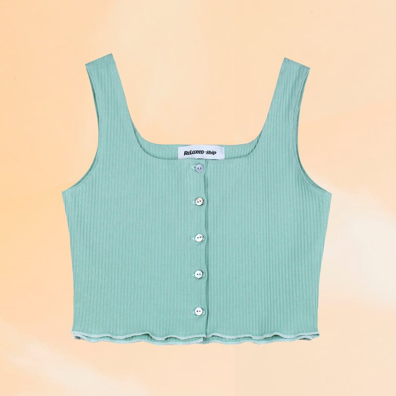 Breasted Tank Short Tank Top - Mint