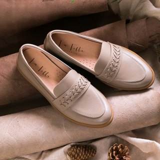 [3M waterproof leather] woven loafers _ beige