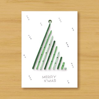 Handmade Roll Paper Card _ Give you a special Christmas greeting MERRY X'MAS_B