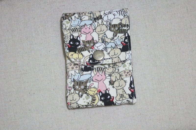 Card Business Card Pouch - full cat family