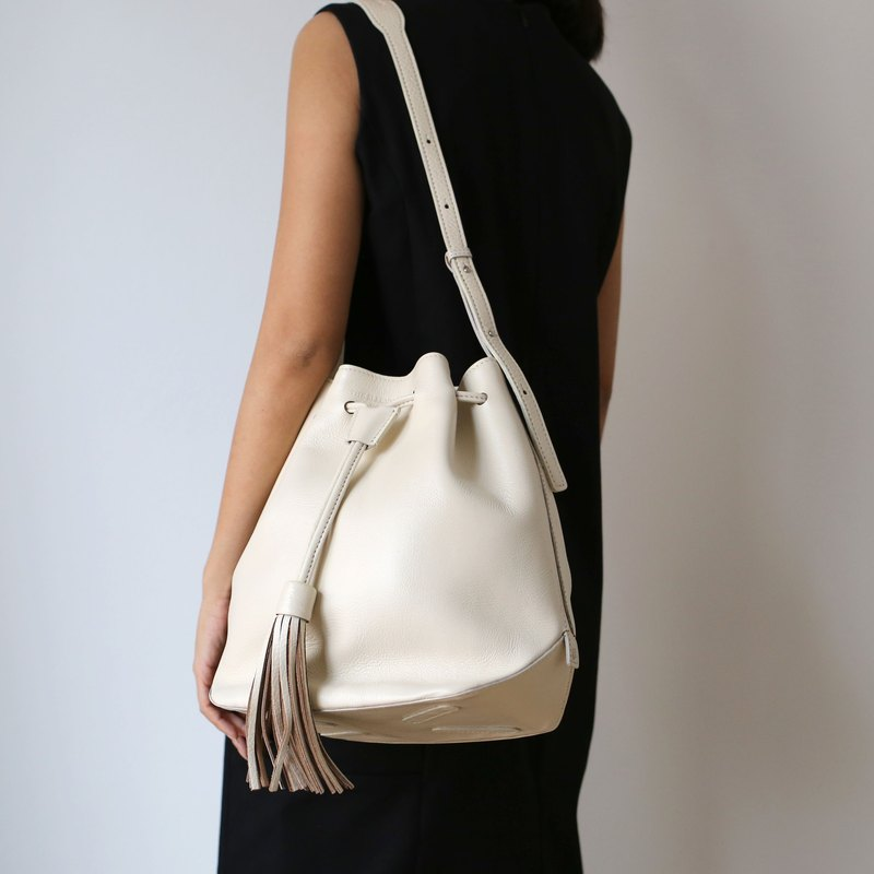 Leicester bucket bag /Cream