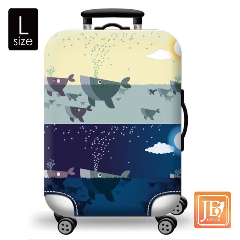 LittleChili Suitcase Set - Blue Whale L