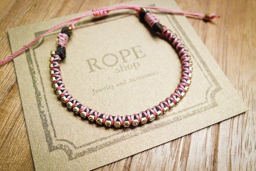 ROPEshop 【full star blessing】 bracelet. Rose powder
