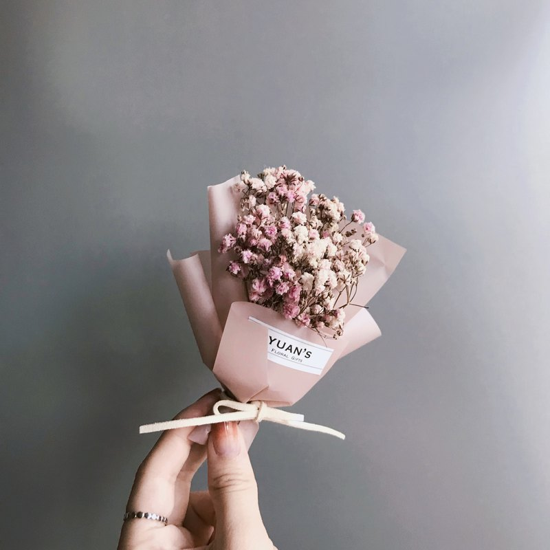 Drying flowers smoked pink paragraph dry Starry little bouquet Christmas gifts Valentine 's Day gifts