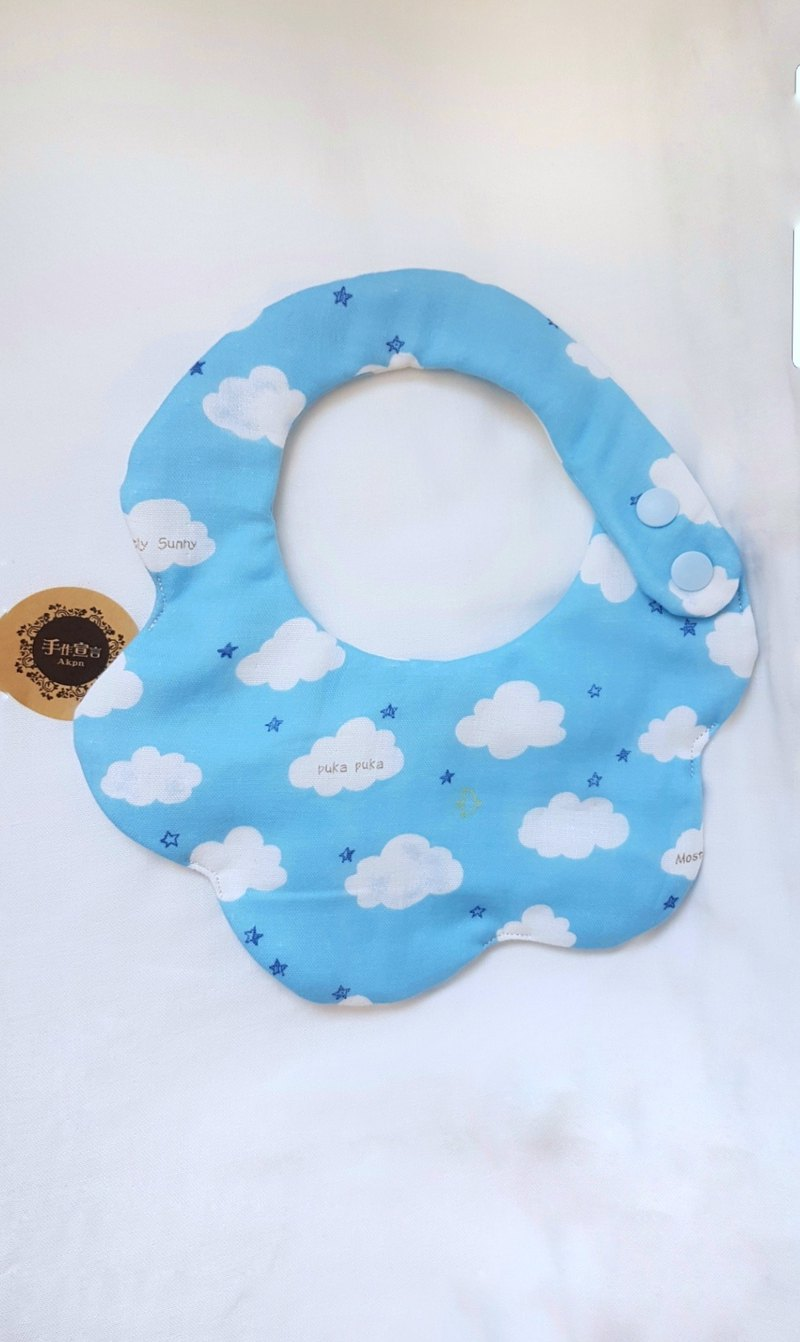 Cloud Eight Layers Bib - Light Blue