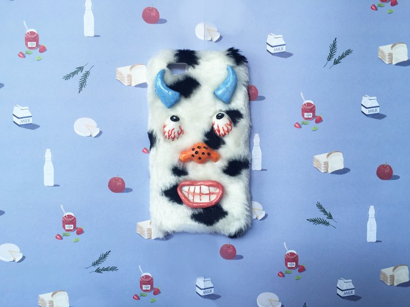 monster cow phone case
