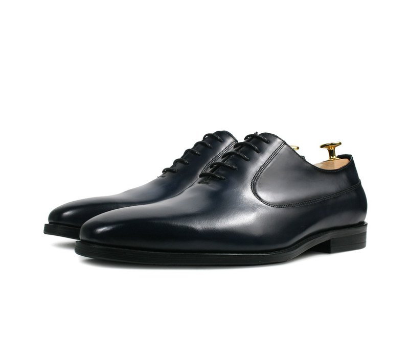 Blackened brush old gentleman leather shoes-HX286-500