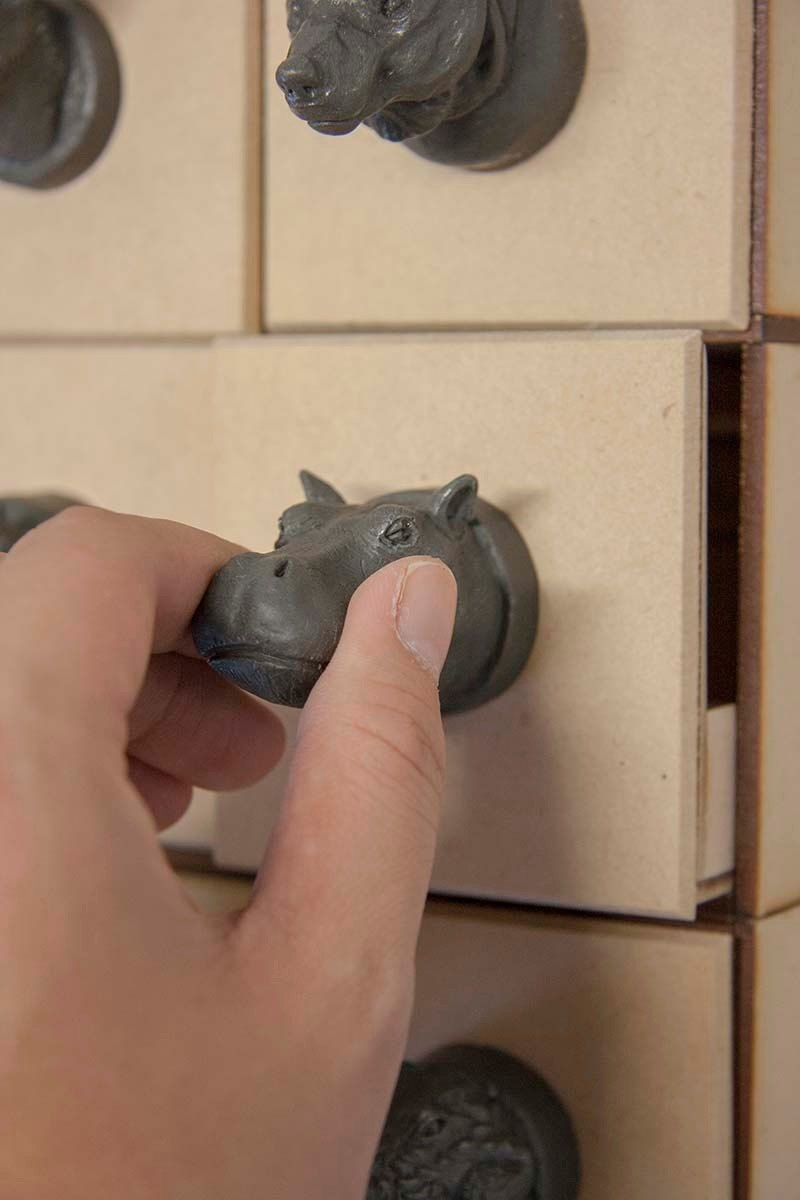 Hippo animal shape magnet or doorknob