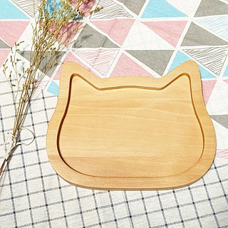Wood for cute animal plate - cat models