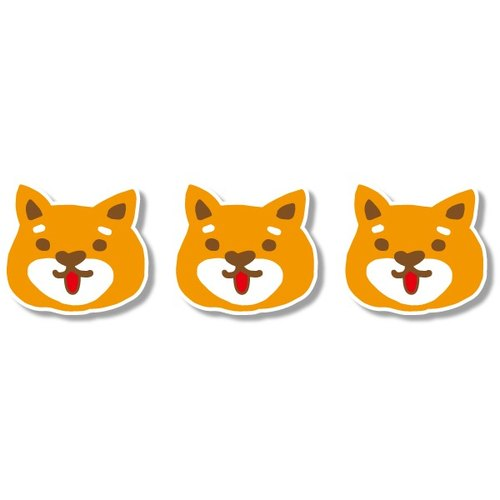 1212 fun design funny stickers everywhere waterproof stickers - a large shiba dogs
