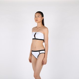 3-in-1 Mesh Bikini set - White / swimwear / L