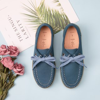Waterproof cow velvet kangaroo casual shoes _ peacock blue