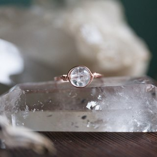 6mm pop white crystal line ring