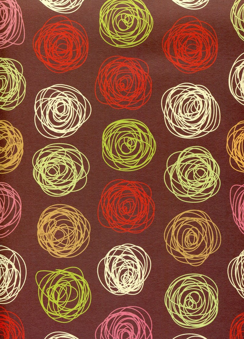 Moof circle rose wrapping paper