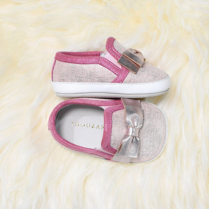 Pink bow casual baby shoes / handmade toddler shoes / custom branding / custom / gifts