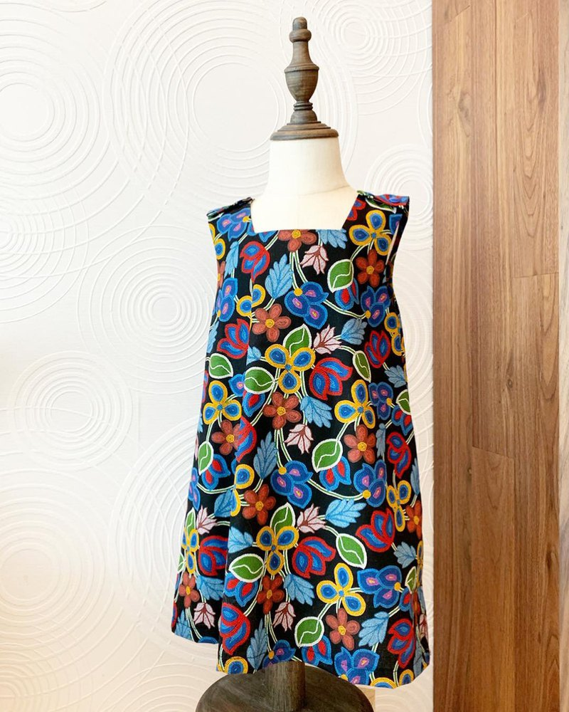 Kids Colorful Floral Dress
