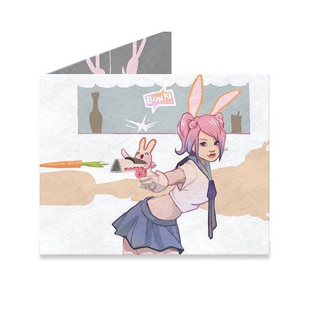 Mighty Wallet(R) 紙皮夾_Cool Bunny Girl